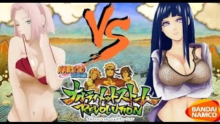 getlinkyoutube.com-Naruto Ultimate Ninja Storm Revolution: Hinata vs Sakura Bikini DLC Gameplay - Summer Outfits