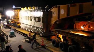 getlinkyoutube.com-日通大型トレーラーによる巨大変圧器の輸送