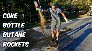 Coke Bottle Butane Rockets