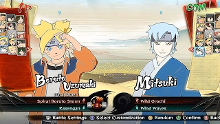 ROAD TO BORUTO - All Characters And Costumes (Including All DLC) Naruto Storm 4 Road to Boruto