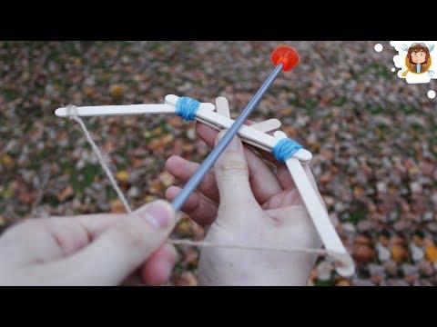 Como fazer um arco e flecha  (Elásticos de Escritório - Palitos de picolé )