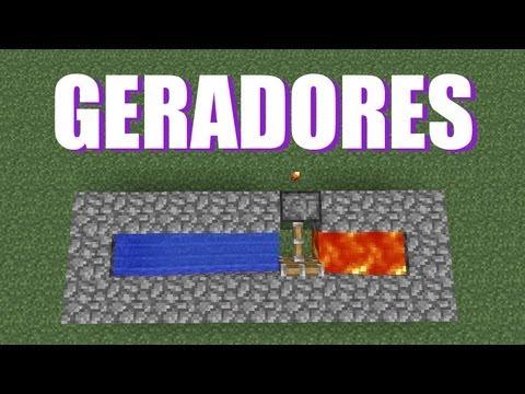 Geradores de Cobblestone - Minecraft Tutorial Básico 02
