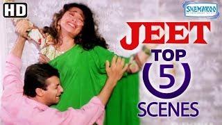 Top 5 Scenes From Jeet (1996) (HD) - Sunny Deol - Salman Khan - Karishma Kapoor - Popular 90's Film