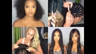 getlinkyoutube.com-How to: 2 Part Lace wig Sew in with leave out & healthyBraid down