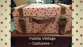 getlinkyoutube.com-DIY: Maleta Vintage - Costurero