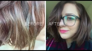 getlinkyoutube.com-QUICK FIX FOR HAIR COLOR DISASTER -  'Fanci-Full Color Rinse' - NO DAMAGE
