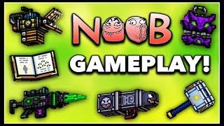 getlinkyoutube.com-Pixel Gun 3D - Noob Weapon Gameplay!