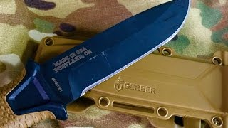 getlinkyoutube.com-Gerber Strongarm Fixed Blade: Survival, Camping, General Use Knife