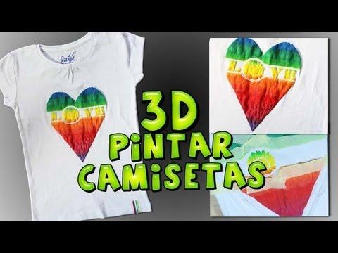 Pintura 3D para Pintura en Tela DIY *Paint on Fabric* Pintar Tela Paso a Paso Pintura Facil