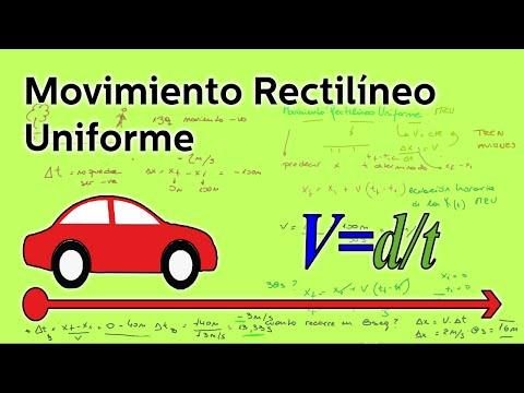 Movimiento rectilíneo uniforme - Física - Educatina