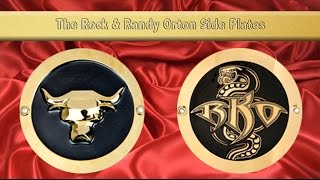 getlinkyoutube.com-Randy Orton and The Rock Side Plates for the 2 Newest WWE Replica Belts