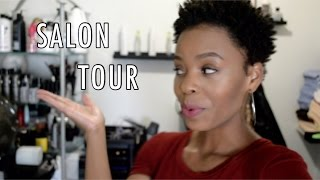 getlinkyoutube.com-IN-HOME SALON TOUR + PORTABLE SHAMPOO BOWL 💋