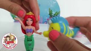 getlinkyoutube.com-RARE Ariel Deluxe Fashion Princess Set - Polly Pocket Dresses The Little Mermaid Story Set Disney Pa