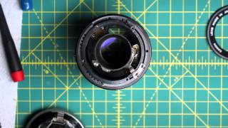 getlinkyoutube.com-Canon FD SC 135mm f3.5 Lens Disassembly