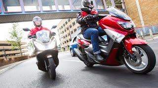 getlinkyoutube.com-Honda PCX125 vs Yamaha NMAX - Scooter Review