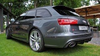 getlinkyoutube.com-2014 Audi RS6 Avant C7 - Start up, Revs + Overview!