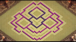 getlinkyoutube.com-TH8 WAR BASE - ANTI HOG/DRAGON - Clash of Clans