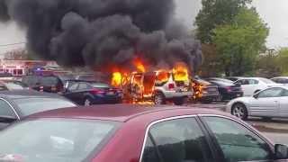getlinkyoutube.com-Nassau Community College Car Fire 10/22/14