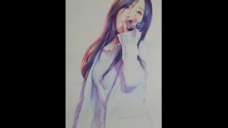getlinkyoutube.com-박기철님그림♥ Drawing 태연 팬아트  MRMR