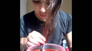 getlinkyoutube.com-Teñirse el pelo con papel crepe;-)