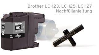 getlinkyoutube.com-Nachfüllanleitung Brother LC-123, LC-125, LC-127 mit Refill Tool
