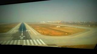 getlinkyoutube.com-Airblue: Cockpit view - Lahore airport landing