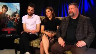 "getlinkyoutube.com-Jay Baruchel, America Ferrera, and Dean DeBlois talk about ""How to Train Your Dragon 2"""