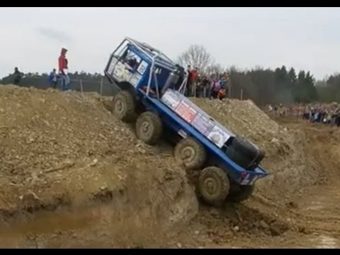 Truck trial Extreme Tatra 813 8x8 - Ride Backwards!