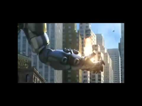 Iron man+Spider man+Hunk Vs Robot