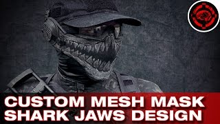 getlinkyoutube.com-Custom Airsoft Mesh Mask Design (Shark Jaws)