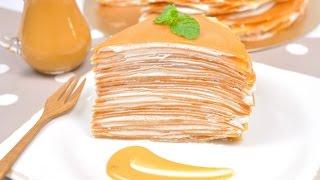 getlinkyoutube.com-เครปเค้กชาไทย Thai Tea Crepe Cake