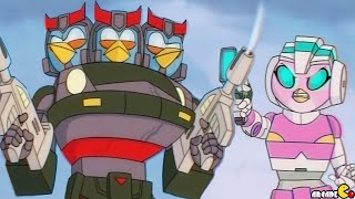 getlinkyoutube.com-Angry Birds Transformers – Team Up With The Blues PROWL And BLUESTREAK!