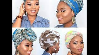 getlinkyoutube.com-6 QUICK AND EASY HEADWRAP/TURBAN STYLE [SHORT NATURAL HAIR AND TWA FRIENDLY]