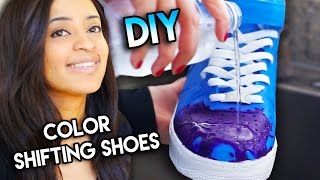 How To: Color Changing Shoes With Water Heat Solar & Blacklight Exsposure | Full Custom Tutorial