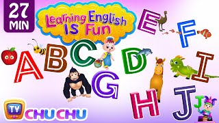 ABCDEFGHIJ songs with Phonics Sounds & Words for Children | Learning English with ChuChu TV