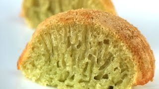 getlinkyoutube.com-How to make Banh Bo Nuong (Pandan coconut honeycomb cake)