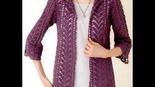 getlinkyoutube.com-Gráficos para tejer Saco a Crochet