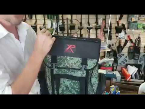 Универсальный рюкзак повышенной емкости для переноски металлоискателя и аксессуаров.
