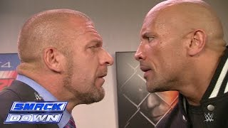 getlinkyoutube.com-The Rock and Triple H take an aggressive stroll down memory lane: SmackDown, Oct. 10, 2014