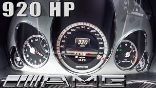 getlinkyoutube.com-Mercedes E63 AMG 920 HP 5.8 V8 BiTurbo GAD ACCELERATION 320 km/h by AutoTopNL