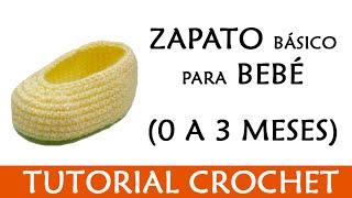 getlinkyoutube.com-PATRÓN CROCHET: ZAPATITO BASICO PARA BEBE (0 A 3 MESES) | Patrones Valhalla