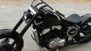 getlinkyoutube.com-350CC.COM | Bittoo - the V-twin Honda Steed by Raputana Customs (Brief Overview)