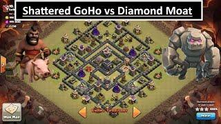 getlinkyoutube.com-Shattered GoHo vs POPULAR DIAMOND MOAT base. MAX TH9 3 STAR. Clash of Clans
