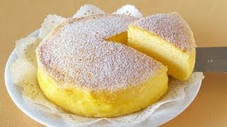 getlinkyoutube.com-3-Ingredient Soufflé Cheesecake (Japanese Cotton Cheesecake) 材料3つでスフレチーズケーキ - OCHIKERON