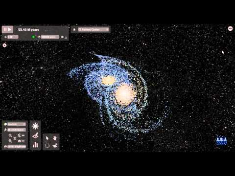 Andromeda &amp; Milky Way Galaxy Collison Simulation - Universe Sandbox 2