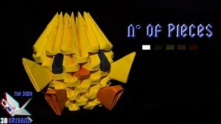 getlinkyoutube.com-[ORIGAMI 3D TUTORIAL] Baby Chicken (EASY) || Animals/Fast to Make