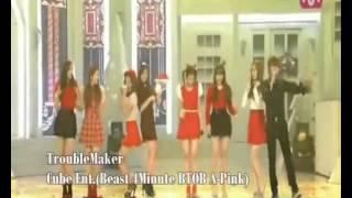 getlinkyoutube.com-TroubleMake Cube Ent.Ver (Beast 4Minute BTOB A-Pink).wmv