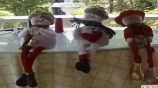 getlinkyoutube.com-Adornos de navidad. Muñeco de nieve