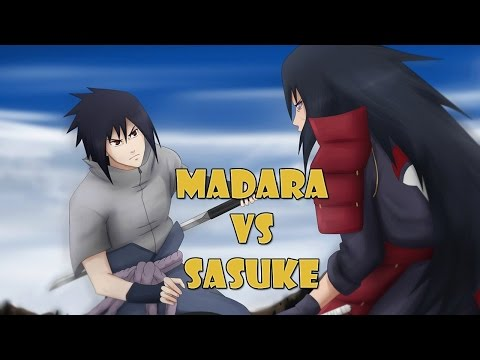 Madara vs Sasuke Full Fight [NEW MOVES] - Naruto Shippuden Storm Revolution