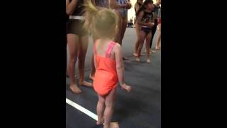 Two Year Old Roundoff Back Handspring